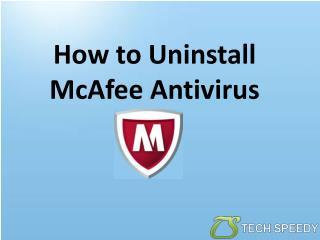 How To Uninstall McAfee Antivirus