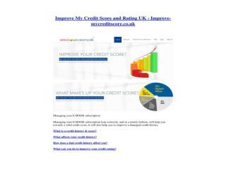 Improve My Credit Score and Rating UK - Improve-mycreditscor