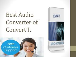 Best Audio Converter of Convert It