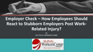 Employer Check � How Employees Should React to Stubborn Empl