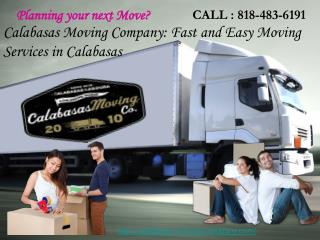 Calabasas Moving Company: Fast and Easy Moving Services in C