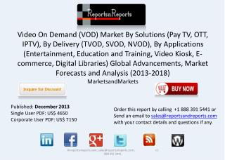 2018 Forecasts to Video On Demand Market