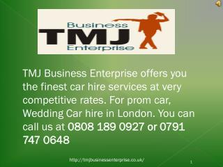 Hire A Luxury Car For Prom Night Via TMJ Business Enterprise