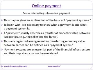 Some popular fact about online payment