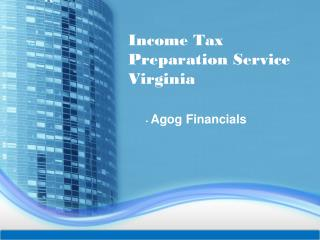 Income Tax Preparation Service Virginia