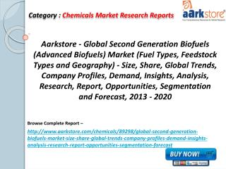 Aarkstore - Global Second Generation Biofuels Market