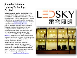 Shanghai Leiqiong LED Lighting Products