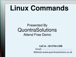 Linux Online Training | Free Demo | QuontraSolutions