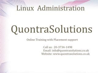 Linux Administration Online Training By QuontraSolutions