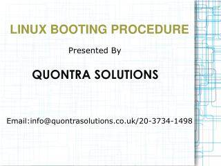 Linux Booting Procedure Online Training By Quontra Solutions