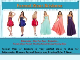 Formal Dresses Brisbane