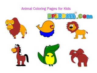 Animals Coloring Pages for Kids - Bforball