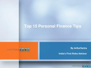 Top 15 Personal Finance Tips in 2015 by - ArthaYantra -budge