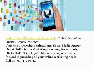 Social Media Companies in Abu Dhabi| Mobile Apps Abu Dhabi |