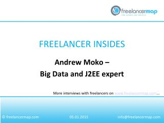 Andrew Moko - Big Data and J2EE expert
