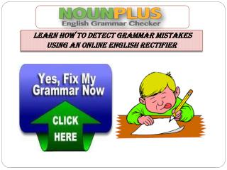 Learn How to Detect Grammar Mistakes Using An Online English