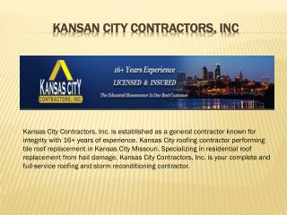 Kansas City Contractors Inc. | Roofing Services