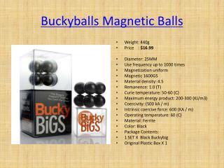 Buckyballs Magnetic Balls