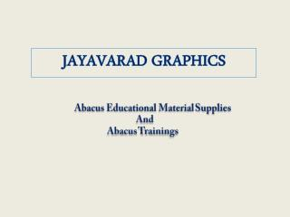 Abacus Educational Material Supplies And Abacus Trainings