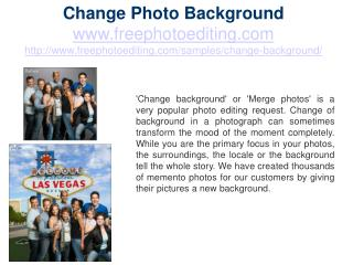 Change Photo Background