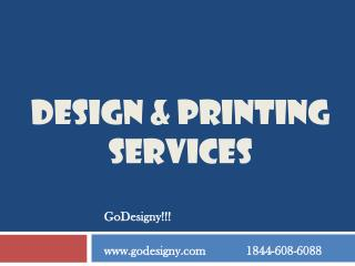 Designing And Printing Services