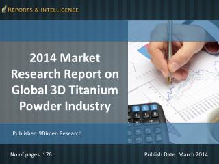 R&I: Global 3D Titanium Powder Industry Market - 2014