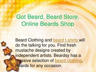Got Beard, Beard Store, Online Beards Shop