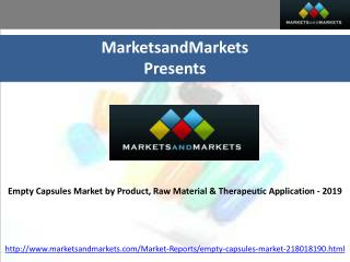 Empty Capsules Market  by  Product, Raw Material & Thera