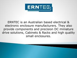 Erntec - Brushless DC Motors & Small DC Motors Manufacturers