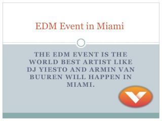 EDM Event in Miami