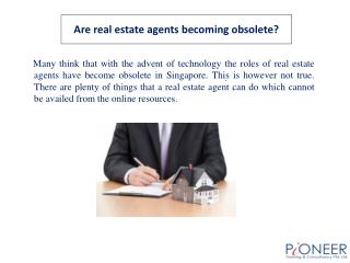 Are real estate agents becoming obsolete