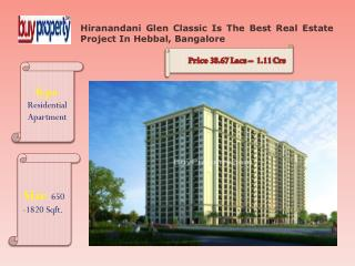 Hiranandani Glen Classic Is The Best Residential Project