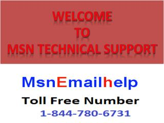 MSN Technical Support Number Usa