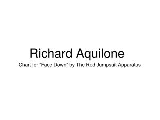 Richard Aquilone -  Drum Chart for
