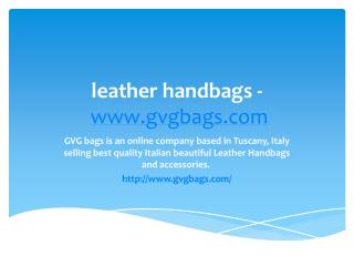 leather handbags - www.gvgbags.com