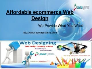 Affordable ecommerce Web Design