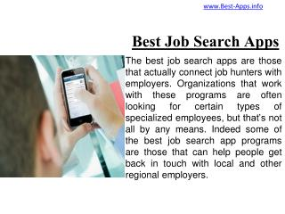 Top Five Job Apps