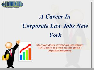 Corporate Law Jobs New York