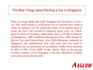 The Best Things about Renting a Car in Singapore