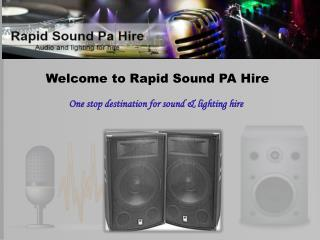 Sound and Lighting Hire