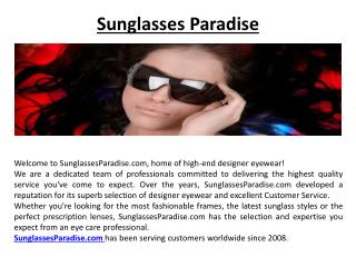 High End Designer Eyewear