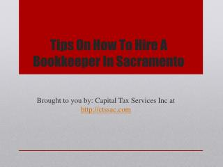 Tips On How To Hire A Bookkeeper In Sacramento