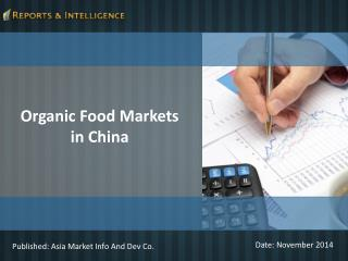 R&I: Organic Food Markets in China