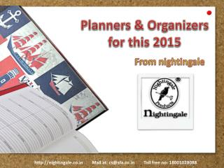 Planner and Organizers from Nightingale