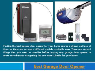 Garage Door Opener Reviews