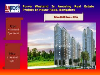 Purva Westend  Provides Best 2, 3 BHK Apartments