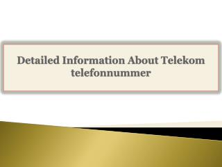 Detailed Information About Telekom telefonnummer