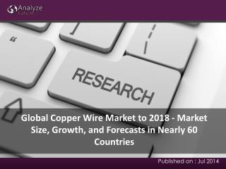 Global Copper Wire Market to 2018