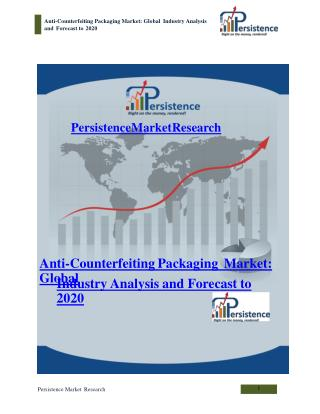 Anti-Counterfeiting Packaging Market: Global Industry Analys