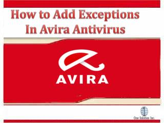 How to Add Exceptions in Avira | Support For Avira Antivirus